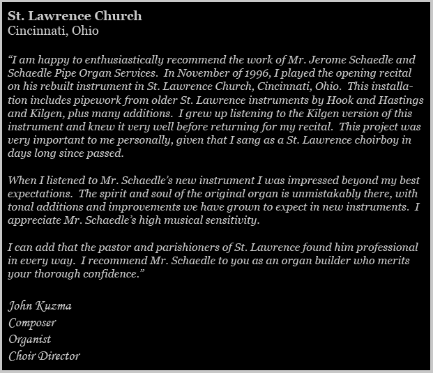 St. Lawrence Church Testimonial