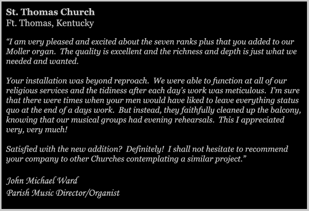 St. Thomas Church Testimonial